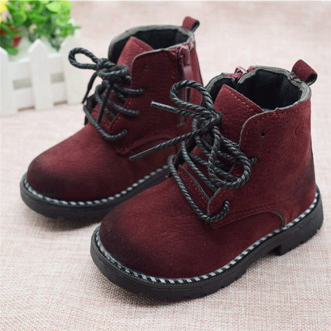 Autumn Boys Baby Boots For Girls Children Martin Boots Kids Ankle Zip Sneakers Girl Casual Toddle Shoes