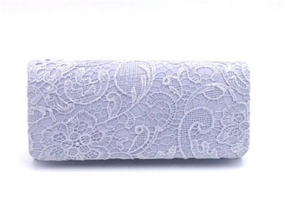 Sexy Lace Flowers Trendy Design Women Night Club Party Evening Elegant Clutch Bags Purse Ladies Charming Bag bolsa feminina