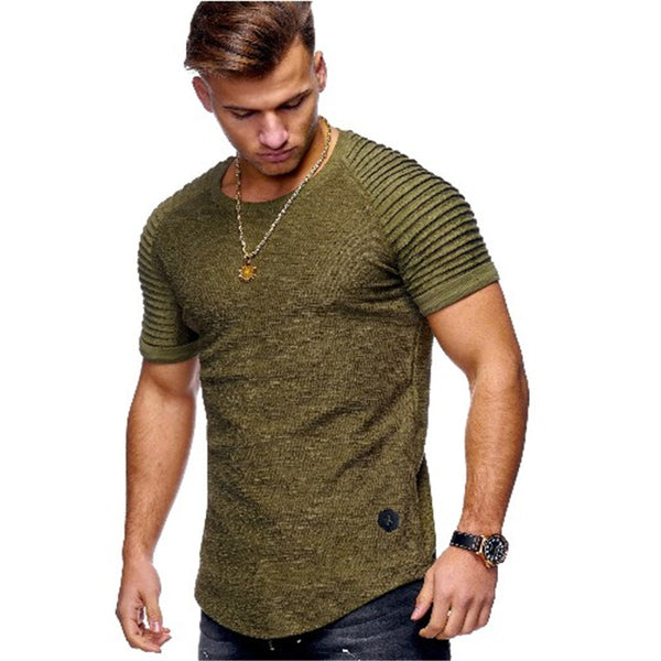 men Bamboo Fiber T-Shirts Men's summer T-Shirts Tops Short Sleeve Cotton Tops tees bodybuilding Fold T-shirt man 3XL