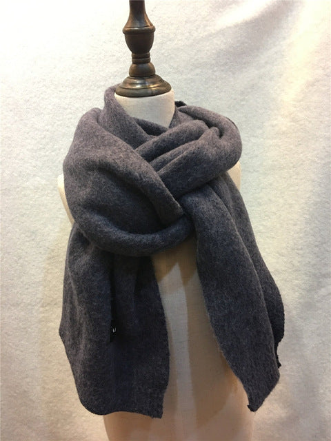 European Style Tiny Diamond Texture Solid Scarf Women Solid Plaid Warm Pashmina Shawl Thick Knitting Long Scarves Wraps YG479