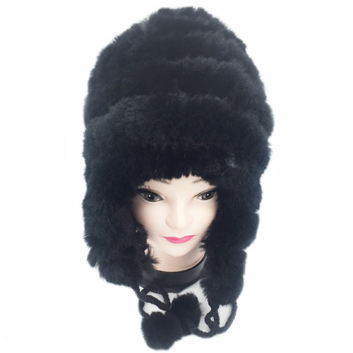 new elastic knitted rex rabbit fur beanies women real rex rabbit fur hat 100% real natural rex rabbit fur cap wholesale retail