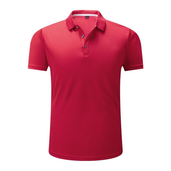 Men's Short Sleeve Polo Shirt Men Stretch Quick Dry Polos Summer Business Casual Mens Clothing,