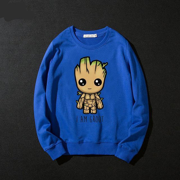 Trendy Guardians of the Galaxy Groot Hooded Men Women Hoodies Sweatshirts Print Long Sleeve Hip Hop Cotton
