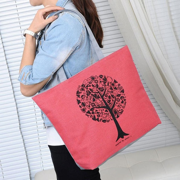 Casual Women Leisure Large Capacity Tote Canvas Shoulder Bag Shopping Bag Beach Bags Fashion