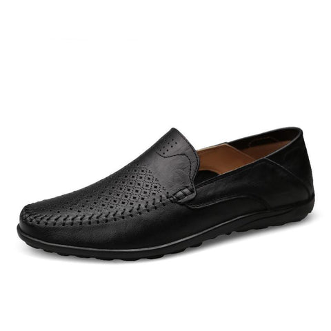 Italian Mens Shoes Casual Luxury Brand Summer Men Loafers Genuine Leather Moccasins Comfy Breathable Slip On Boat Shoes