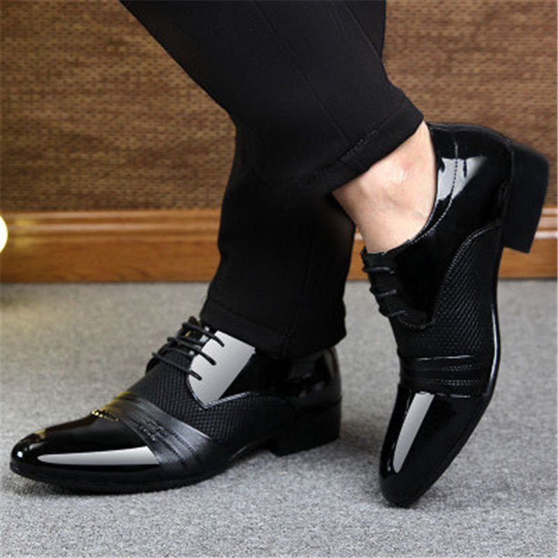 Men Dress Shoes Plus Size 38-48 Men Business Flat Shoes Black Brown Breathable Low Top Men Formal Office Shoes
