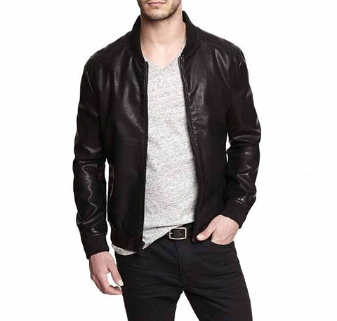 High quality men's genuine natural sheepskin leather casual coat male short jacket spring autumn fall clothing black xxxxxl 5xl
