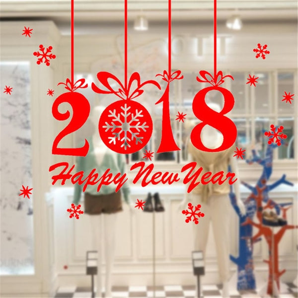 DIY White Snow Christmas Wall Stickers Window Glass Festival Decals Santa Murals New Year Christmas Decorations for Home Decor