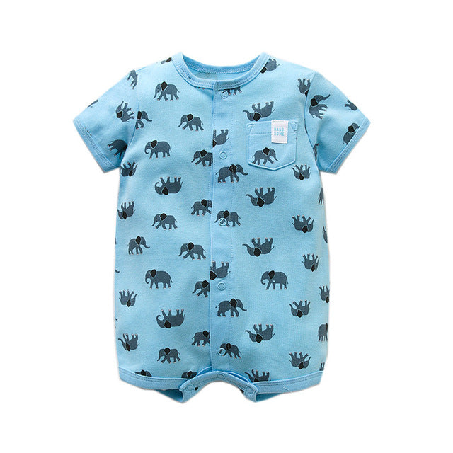 92e912895916b Summer brands Newborn Baby Rompers Short Sleeve Cartoon Cotton Jumpsui