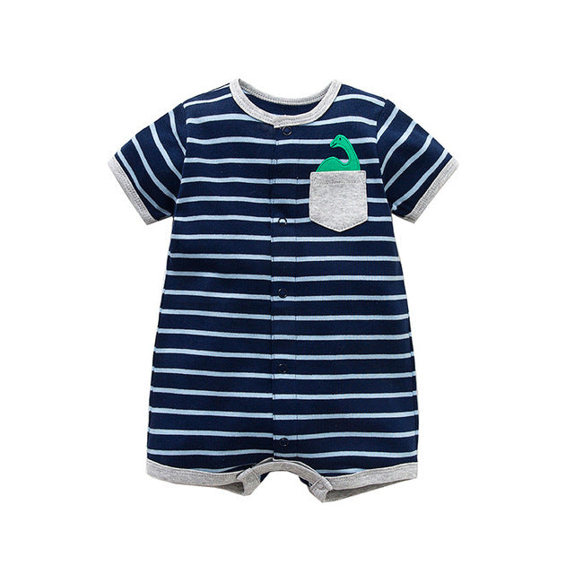 d40ff0a2a0fc5 ... Summer brands Newborn Baby Rompers Short Sleeve Cartoon Cotton  Jumpsuits Baby Infant Baby Clothes For Girls ...