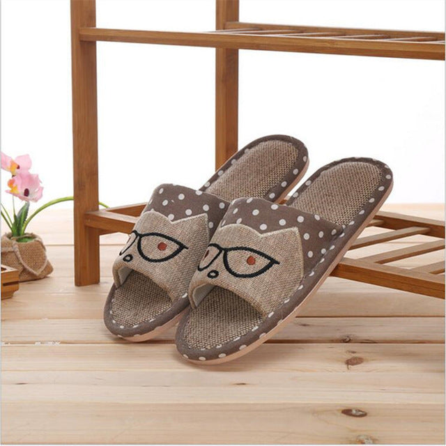 Men Glasses Home Slippers Man Slippers Cute Cat Lovers Home Slippers Indoor Plush Size House Shoes Man wholesale