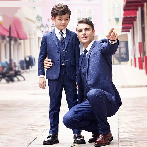 Blazer Boys Suits Weddings Men SuitsVestiti Bambina Cerimonia Garcon Costume Homme Jaqueta Masculina Father Son Matching Clothes