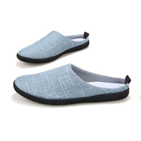 Fashion Male leisure linen Flats / slippers breathable lightweight flip-on loafer shoes boy 4 Classic Colors 6 Sizes