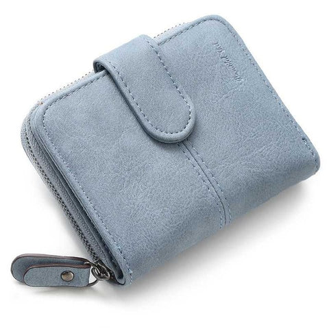 Leather Women Short Wallets Ladies Fashion Small Wallet Coin Purse Female Card Wallet Purses Money Bag 6N08-15