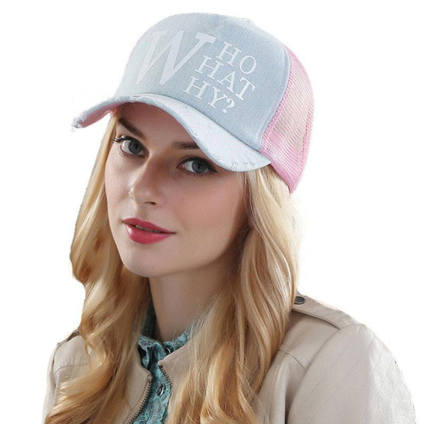 summer female baseball caps woman snapback hat denim mesh cap casquette bone hats for women men