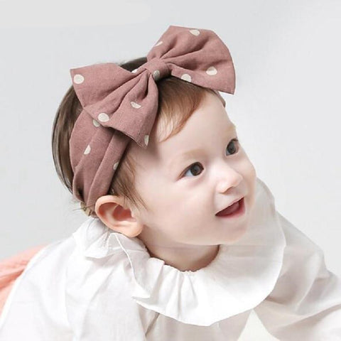 Naturalwell Baby Girl Bow Headband Toddler Topknot Turban Infant Hair Bows Knotted Headbands Kids Hair Accessories HB135S