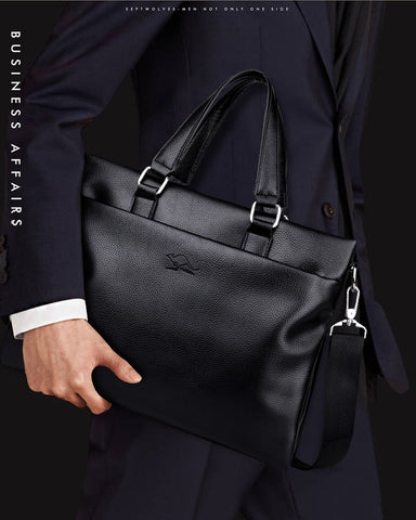 Casual Men Business Shoulder Bags Briefcase Vintage Messenger Travel Bags Male Crossbody Bags Laptop Handbags