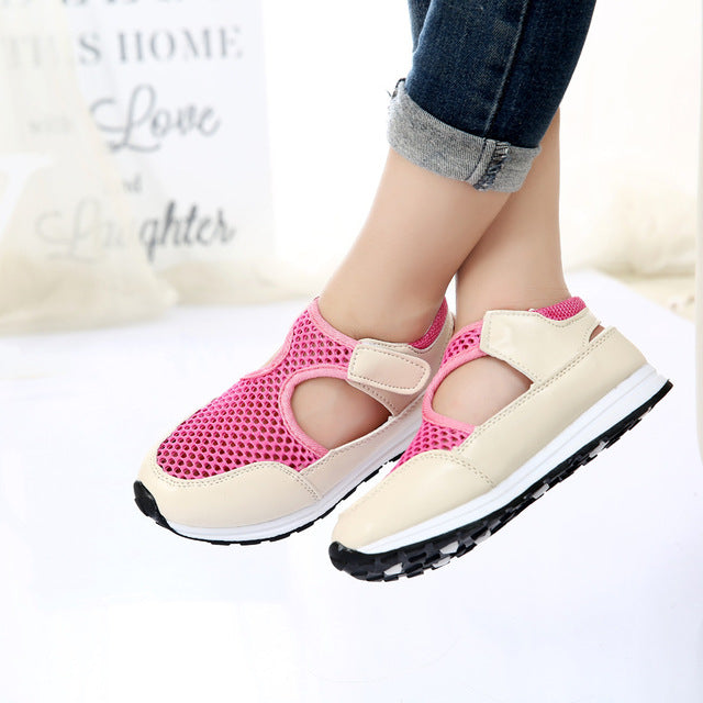 New Fashion Summer Children Shoes Air Mesh Boys & Girls Sandals Breathable Cut-outs Kids Sneakers Unisex EU 21-36