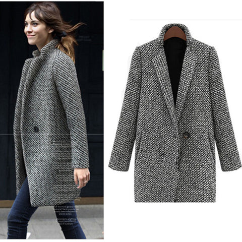 Elegant Office Lady Spring Women Single Button Turn down collar Jacket Female Lady Outwear Coats Fashion Jackets Femme Top