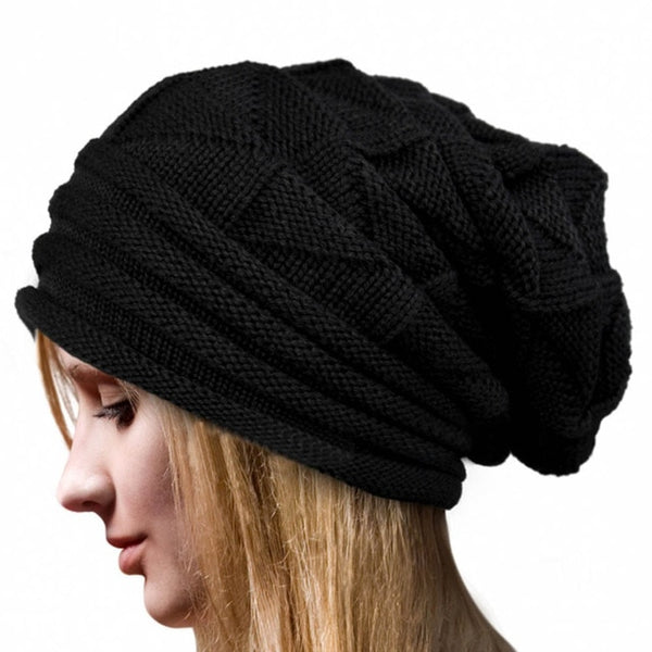 New Fashion Bonnet Femme Women Winter Knitted Hat Female Winter Beanie Crochet Hat Knit Warm Women Caps Woman's Woolen Hats