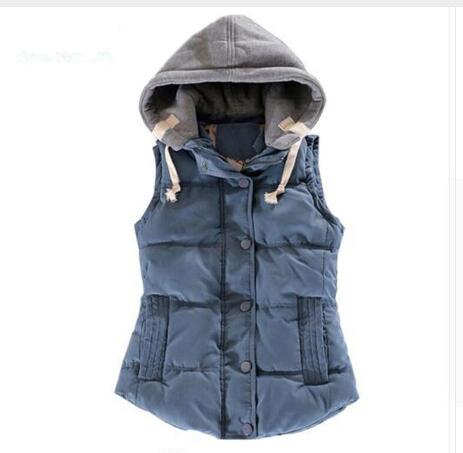 Autumn Winter Fashion Cotton Vest Children Patchwork Sleeveless Hooded Collar Casual Coat teenage Girls Waistcoat Kids clothes