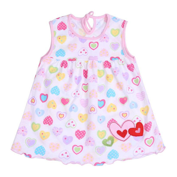 2018 Summer Baby Girl Princess Dress Clothes 0-2 Year Cartoon Dot Dress for Newborn Girl Baby Girl Cotton Sleeveless Clothing