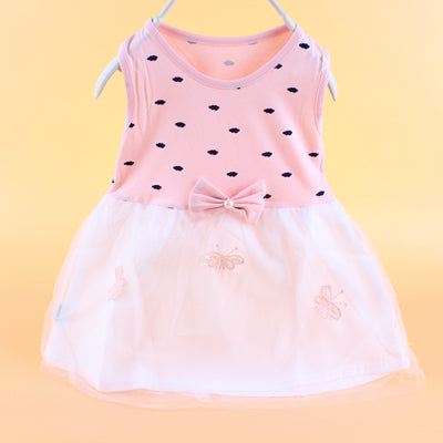 Fashion Dot Girls Dresses New Baby Dress With Bow Gauze Princess Clothes Sleeveless Lovely Girls Dress Summer Baby Girl Clothing