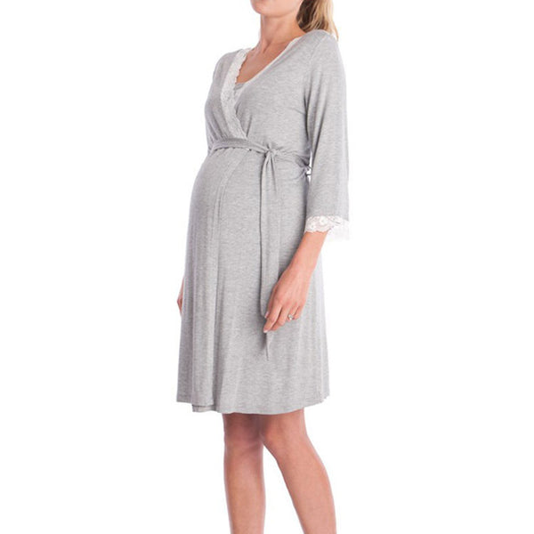 Pregnancy&maternity Nightgown Maternity Pajamas Dress Lace Sleepwear Pregnant Breastfeeding Elegant Nursing Clothes Pyjama