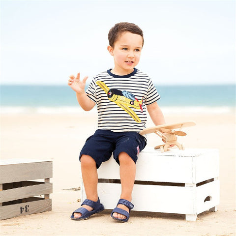Jumping meters Boys T shirts cotton summer children clothing applique animals hot selling kids tees tops knitted t shirt boy