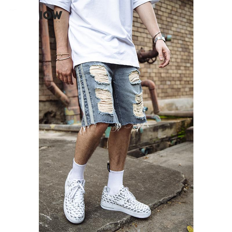 b60cfe7532 New Men Shorts Brand Summer Male Jeans Shorts Fashion Designers Shorts  Cotton Men s Jeans Bermuda Masculina ...