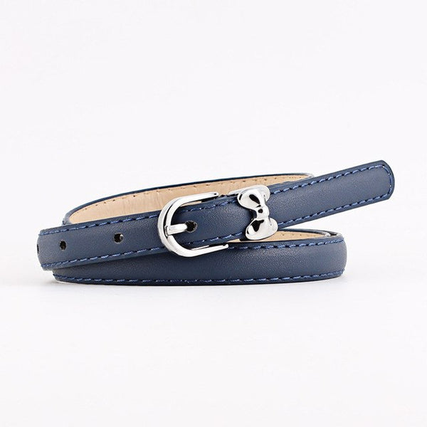 New designer Bow leather belts for women dresses decorative jeans luxury thin belt female casual belts and straps riem N212