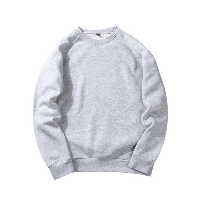 Men Casual Hoodies Sweatshirt  New Spring Solid Color Fleece Polyester Pullover Coat Warm Hoodies Male