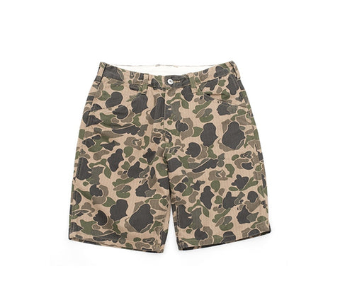4a125711cff Vintage Camo Shorts Safari Style Summer Cargo Short Pants Men Military Pants  Camouflage Herringbone Army Shorts