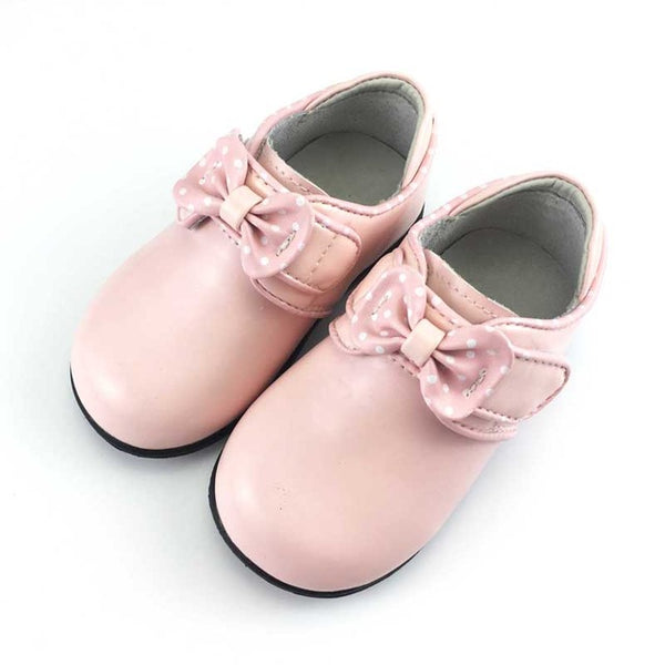 Children Shoes Girls Sneakers 2018 New Spring Autumn Bow Dot Kids Shoes Toddler Baby Leather Shoes