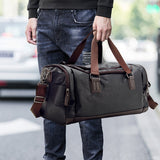 Top Quality Casual Travel Duffel Bag Men Handbags Big Large Capacity Travel Bags Black Mens Messenger Bag Tote JXY815