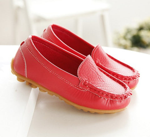 Children shoes spring and autumn male girls shoes candy color bag cow muscle slip-resistant outsole Moccasins child single