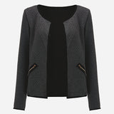 Autumn Plaid Thin Coats Women Short Jackets Casual Slim Long Sleeve Blazers Cardigans Female Outwear Suits S-4XL
