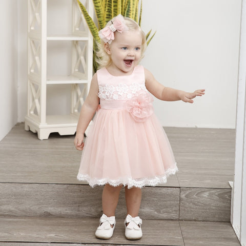 Baby Girls Summer Dress Fashion Toddler Clothes For Newborn Baptism Dresses Infant 1 Year Birthday Cute Dress Party Wedding