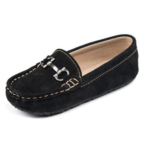 New Spring Flats Children Casual Shoes Boys Girls Leather Shoes Student Slip-On Loafers Kids Genuine Leather Tassel Shoes 04