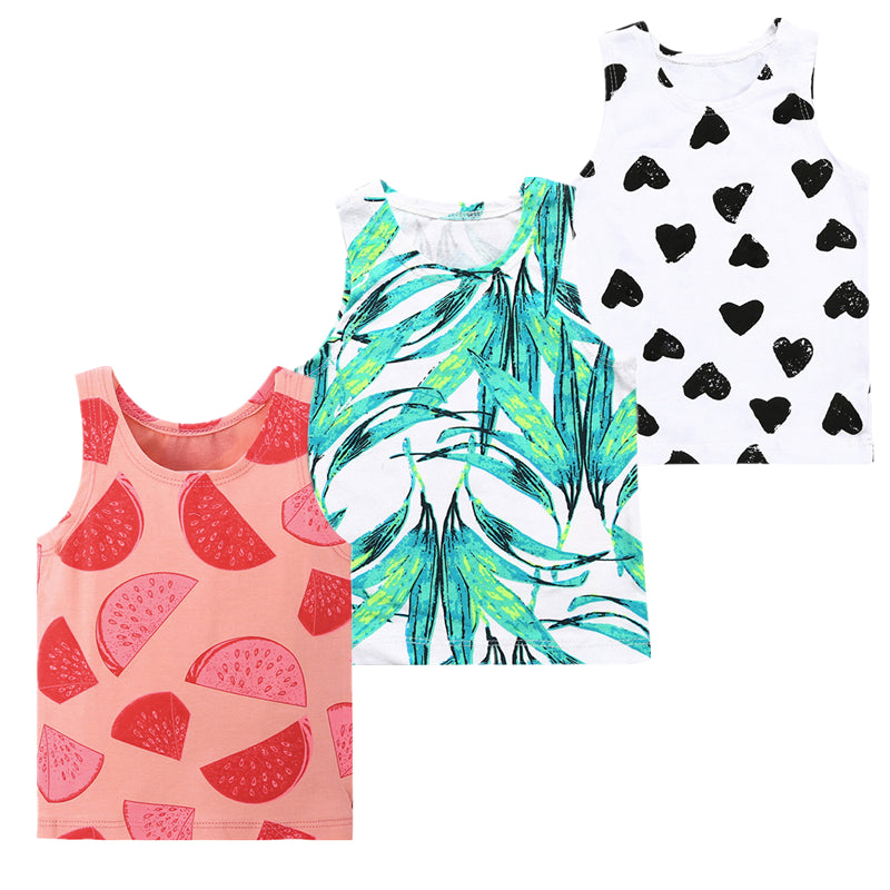 for Baby Toddler Girl Pineapple Print Tank Top and Brown Shorts Sleeveless Summer Clothing Set