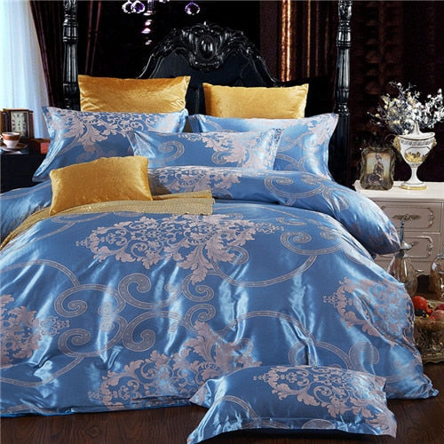 home bed set Jacquard bedding set New super king bed linen set Luxury flat sheet 4pcs/set duvet cover bedclothes pillowcase