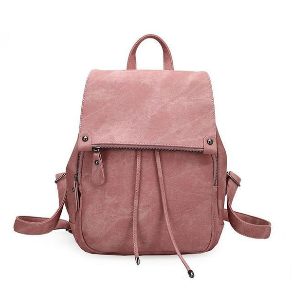 College wind shoulder bag leather women's small bag fashion ladies backpack