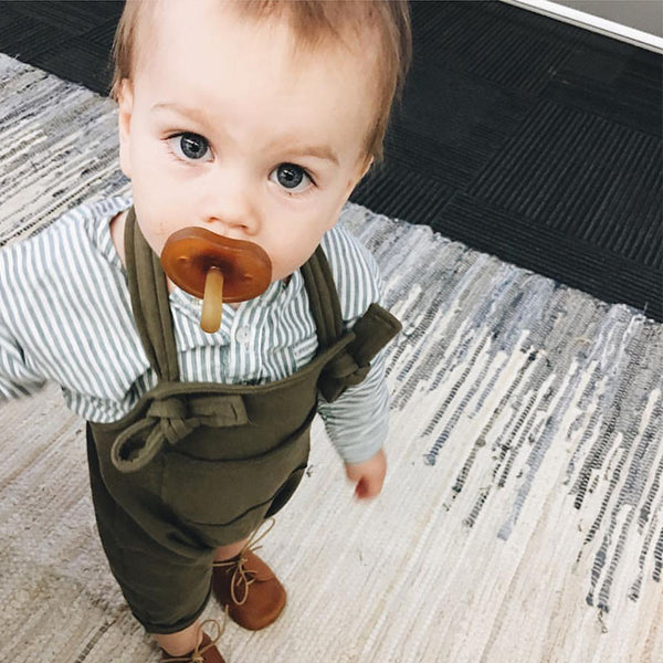 Fashion Baby Boys Rompers Girls Spring Rompers Toddler Cute Solid Overalls Kids Lovely Brown/Green Suspender Pants