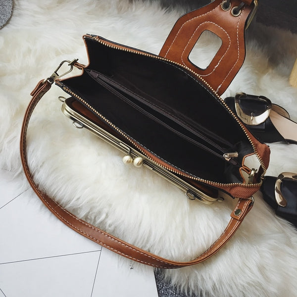brand new retro women messenger bags small shoulder bag high quality PU leather tote bag small clutch handbags nbxq50