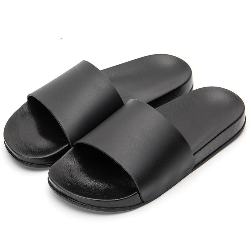 Men Slipper Casual Black And White Shoes Non-slip Slides Bathroom Summer Sandals Soft Sole Flip Flops Man
