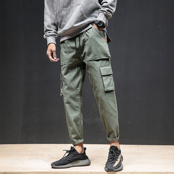 Spring Autumn New Men's Cotton Casual Pants Japanese Multi-pocket Pants Men Tactical Cargo Pants Joggers Trousers