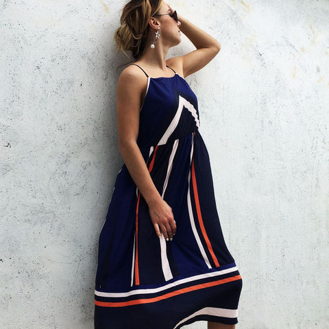 Sexy Chiffon Maternity Dress Striped Style Pregnancy Slip Dresses Beach Summer Holiday Pregnant Women Backless Clothes S/M/L/XXL