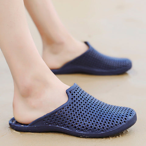 Large Size 40-48 Man Casual Beach Slippers Men Wear Shoes Non-slip Breathable Slip on Casual Garden Clogs Waterproof