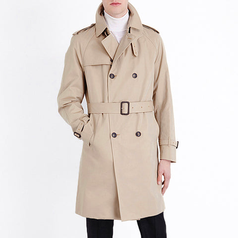 New British Style Trench Coat For men men's Coats Spring And Spring Double Button belt Coats Long jackets Plus Size
