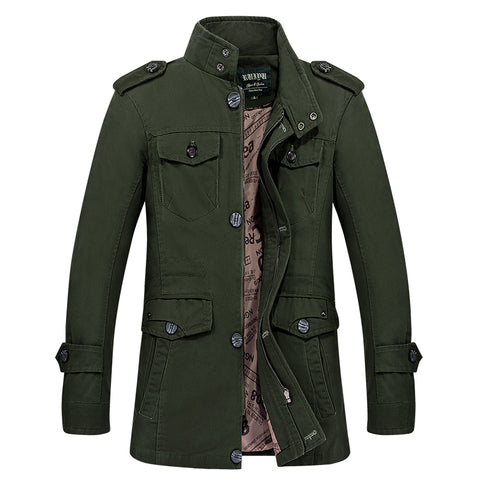 trench coat men cloak trench coat cotton mens long jackets overcoat stand collar casual man windbreaker L-6XL big size
